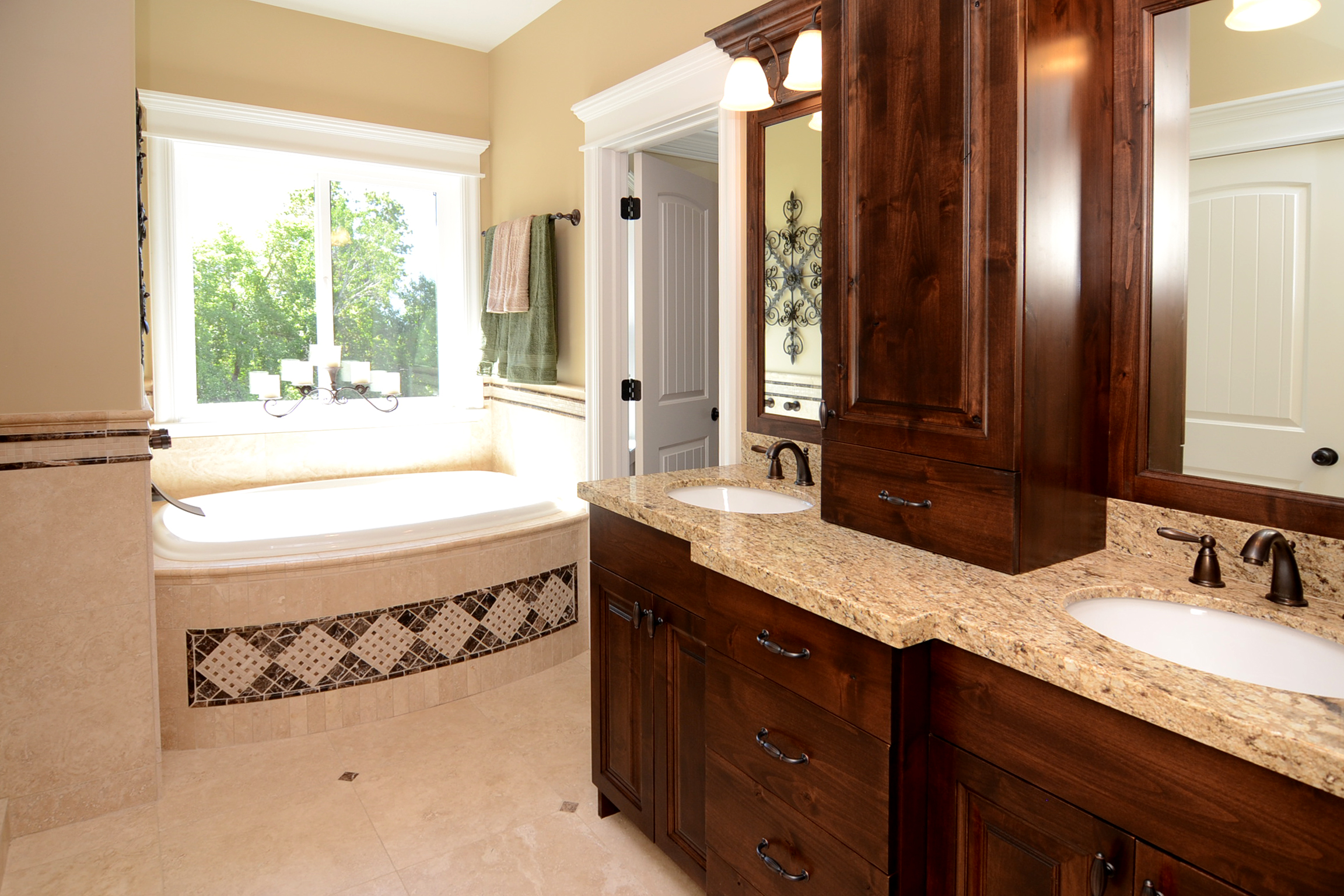 Bathroom Remodel Refinished Bathroom Vanities New Glass And Tile